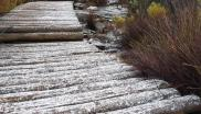 File: Snow fell on Table Mountain on Wednesday.