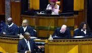President Cyril Ramaphosa replies to questions orally in the National Assembly in Parliament, Cape Town.