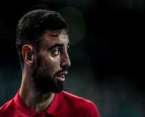 File: Portugal's midfielder Bruno Fernandes attends the Nations League A group 3 football match between Portugal and Sweden at the Alvalade stadium in Lisbon on October 14, 2020.