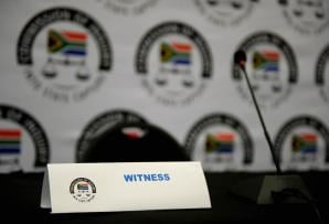 File: State Capture Commission Inquiry witness stand.