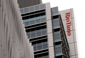 A Rio Tinto sign adorns their building in central Brisbane on December 5, 2011.