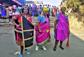 It was a festival of color as South Africans young and displayed their traditional attire.