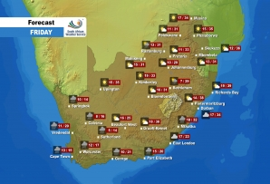 Here is the weather forecast for Friday, 25 September.