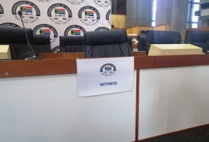 Witness seat at the Commission into State Capture