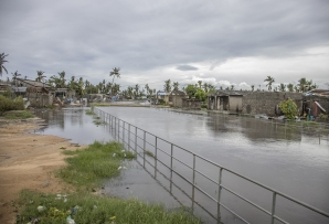 This handout picture released by the UN shows a general view of damage caused by floods after Cyclone Eloise, in the Jan Munhava neighbourhood in Beira, on January 23, 2021.
