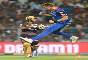 Chris Morris celebrates after taking another wicket for Delhi Capitals in the 2019 IPL