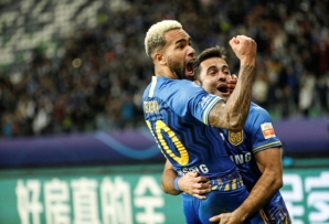 Jiangsu saw off competition from Liverpool to sign Alex Teixeira (L)