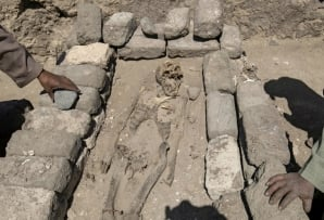 'The archaeological layers have laid untouched for thousands of years, left by the ancient residents as if it were yesterday,' the team's statement said