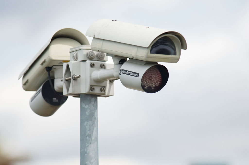 FILE image of video surveillance CCTV cameras.