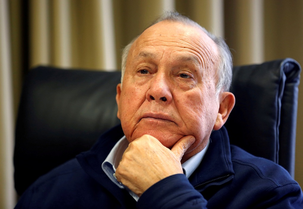 File: South African magnate Christo Wiese, Steinhoff's largest shareholder and chairman, listens during an interview in Cape Town.