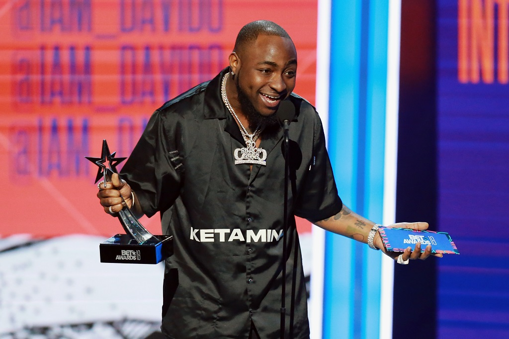 Nigeria's Davido wins BET Award, urges Africa collaboration