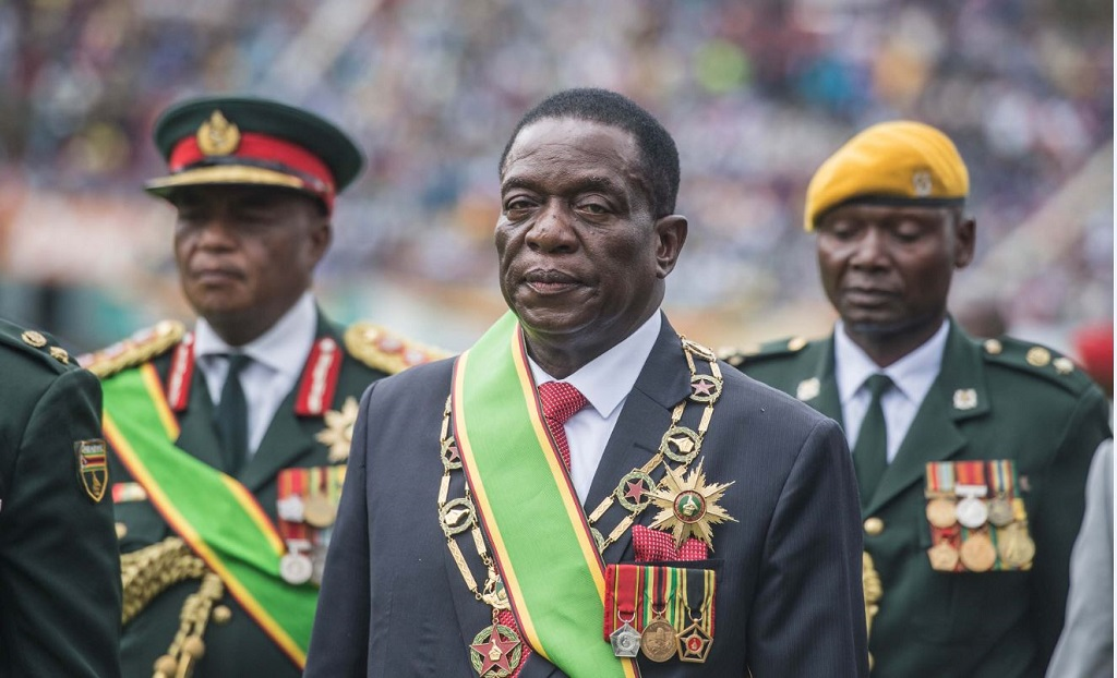 File: Zimbabwe's president-elect Emmerson Mnangagwa was suppose to be sworn-in on Sunday.