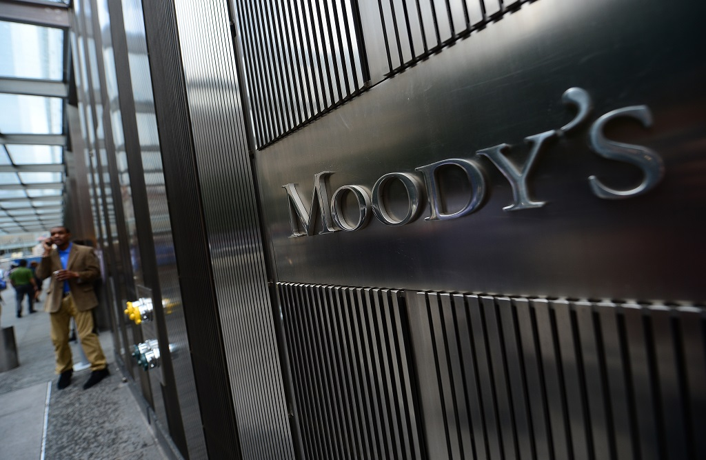 File: Moody's said the slide into recession in the second quarter would exacerbate fiscal and monetary challenges.