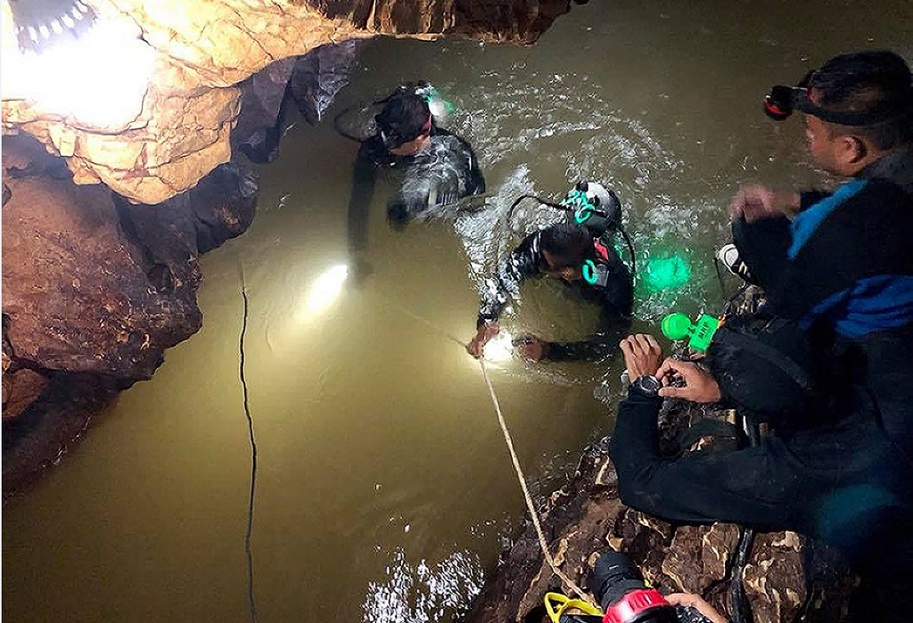 "File: The story of the ""Wild Boars"" club has dominated headlines since the 12 boys and their 25-year-old coach went exploring in Tham Luang cave on June 23 and were trapped deep inside by rising floodwaters, setting off an international search dubbed ""Mission Impossible""."