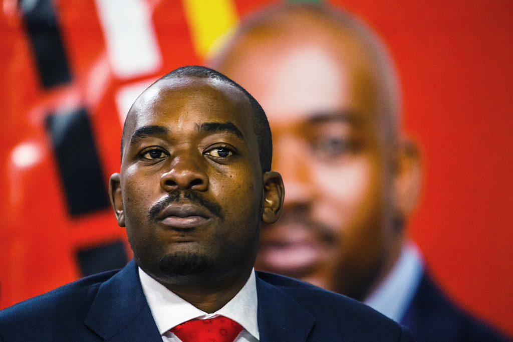 File: MDC leader, Nelson Chamisa, claims he has evidence his party won the election.