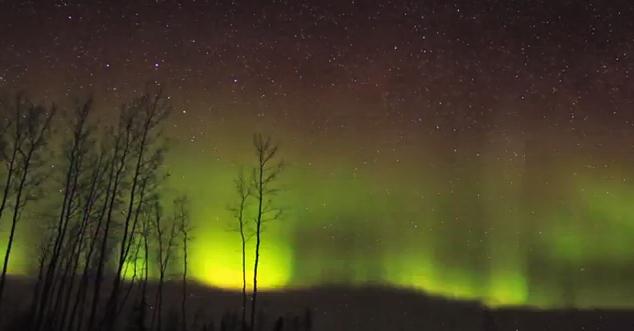 northern lights illuminates minnesota enca