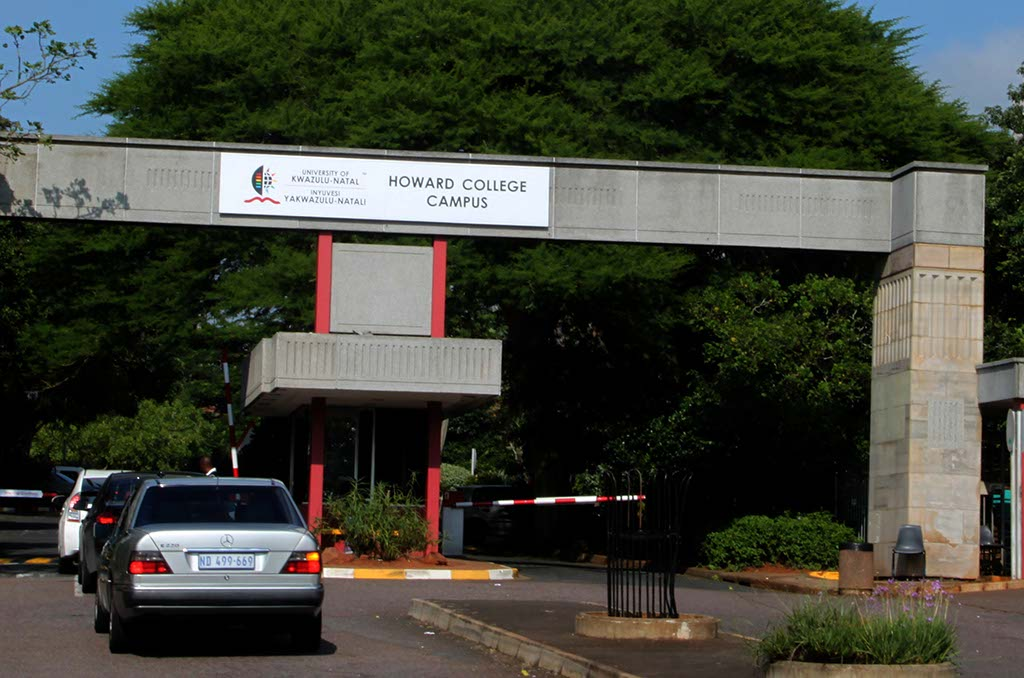 File: The entrance to UKZN's Howard College Campus.